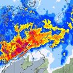 気象レーダー画像